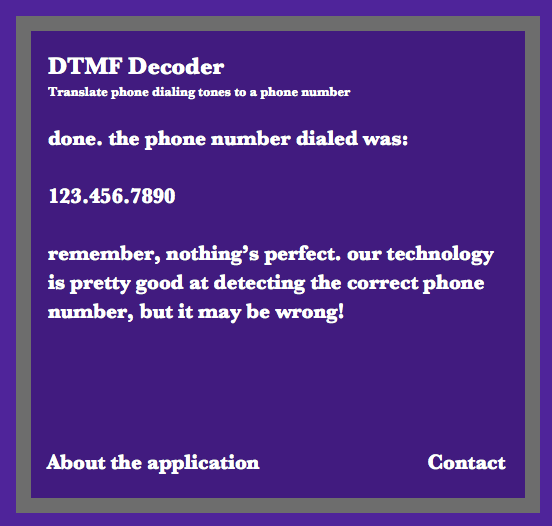 Online DTMF Decoder Project Ideas